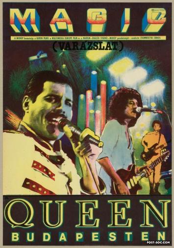 Hungarian Rhapsody Live in Budapest /'86 1988 Czech A4 Mini Poster Queen